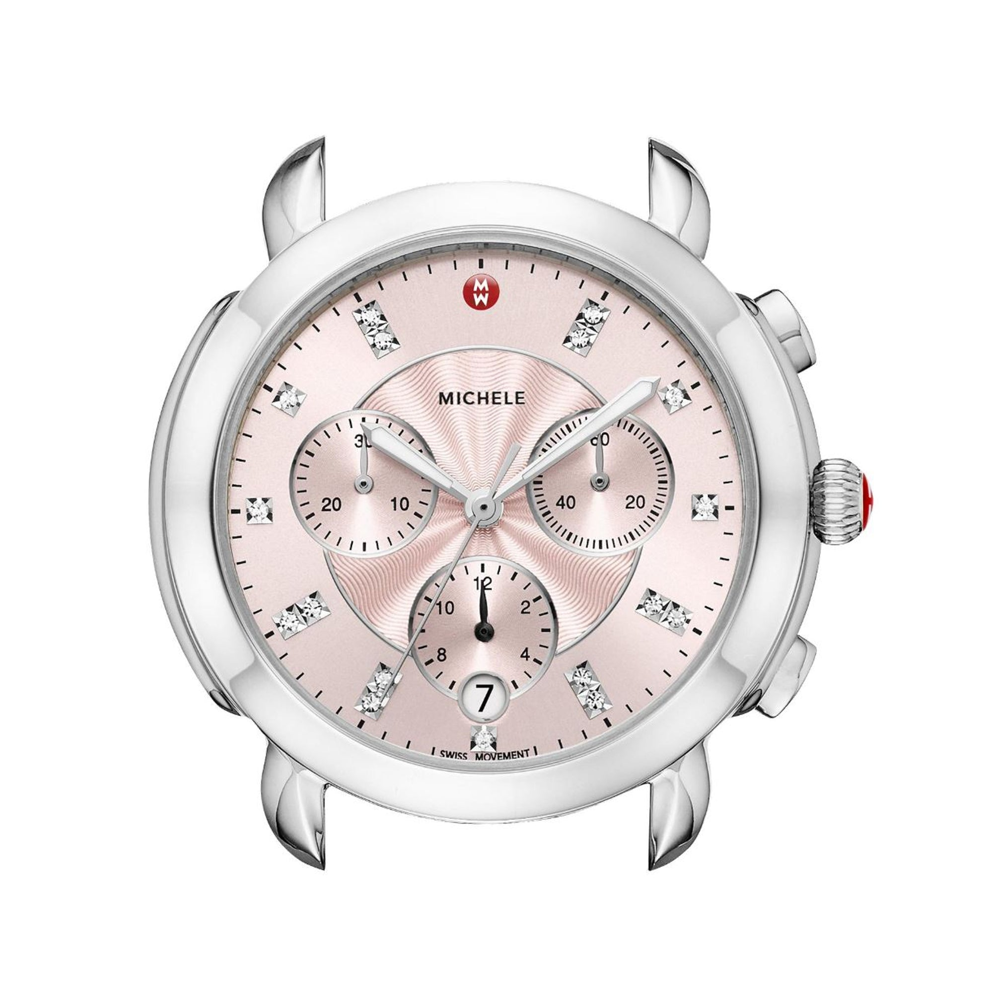 Sidney Stainless-Steel and Blush Diamond Dial