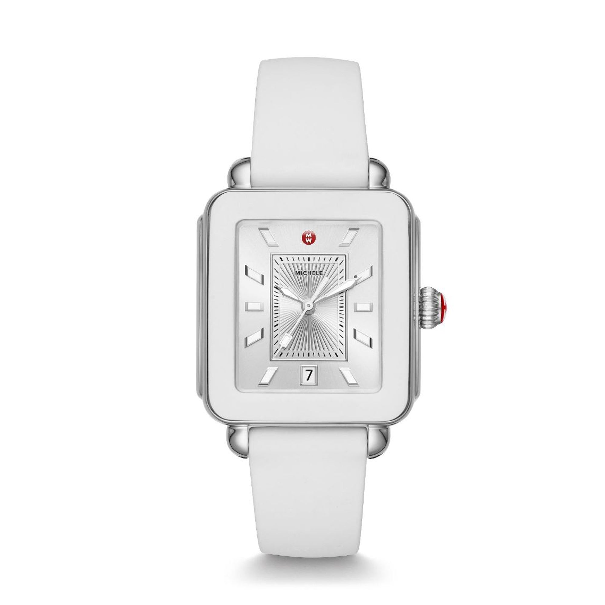 Deco Sport Stainless-Steel and White Silicone Watch