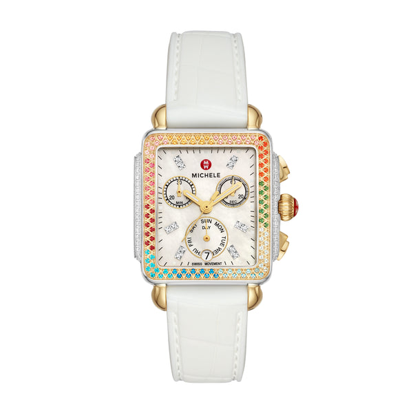 Deco Carousel Two-Tone Diamond Watch