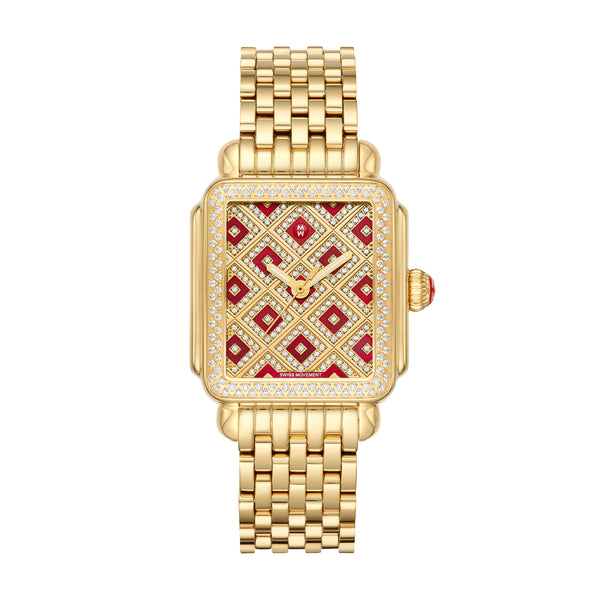 Deco Château Gold Diamond Watch