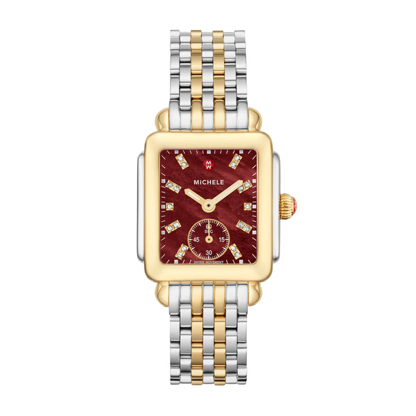 Deco Mid Two-Tone Diamond Dial Watch