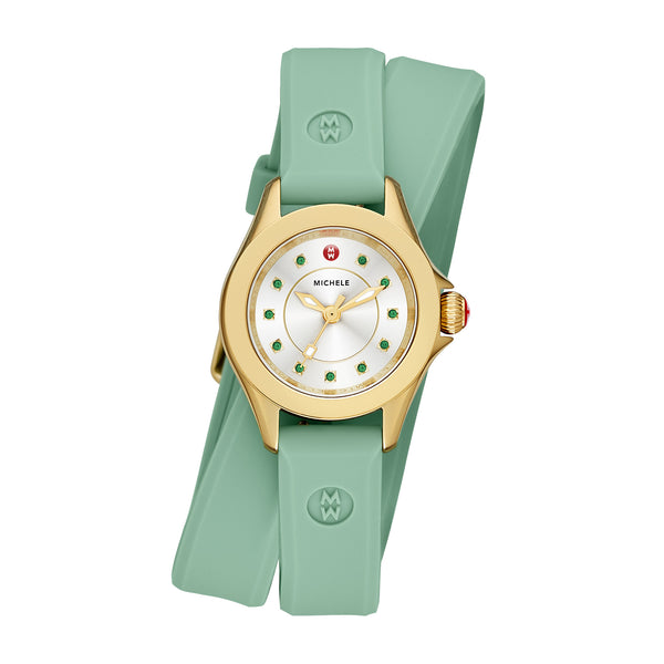 Cape Mini Gold Tone Green Watch