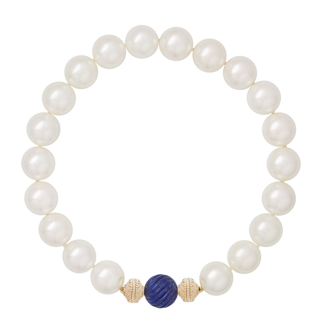 Victoire 20mm White Shell Pearl Necklace