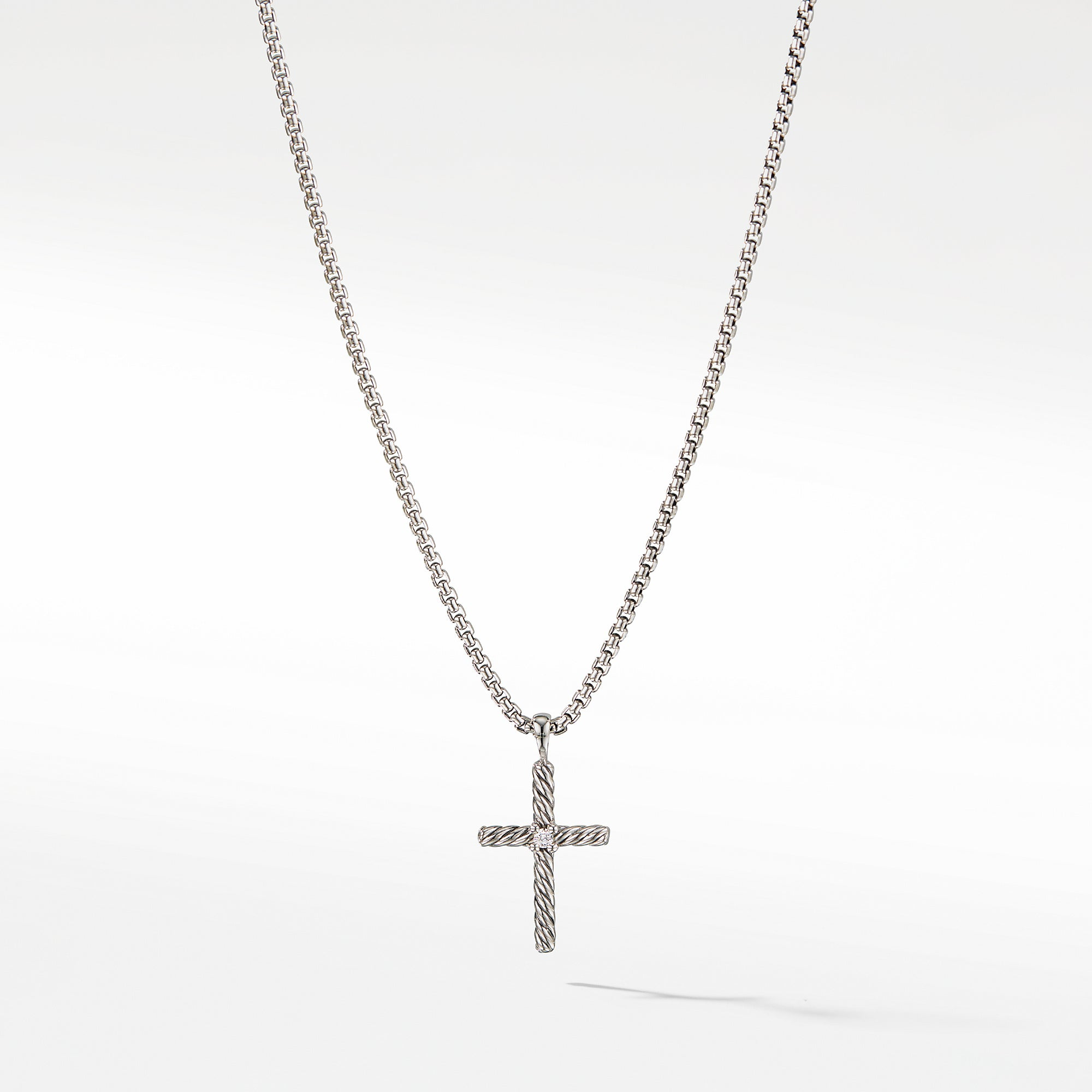 Cross Necklace with Diamond