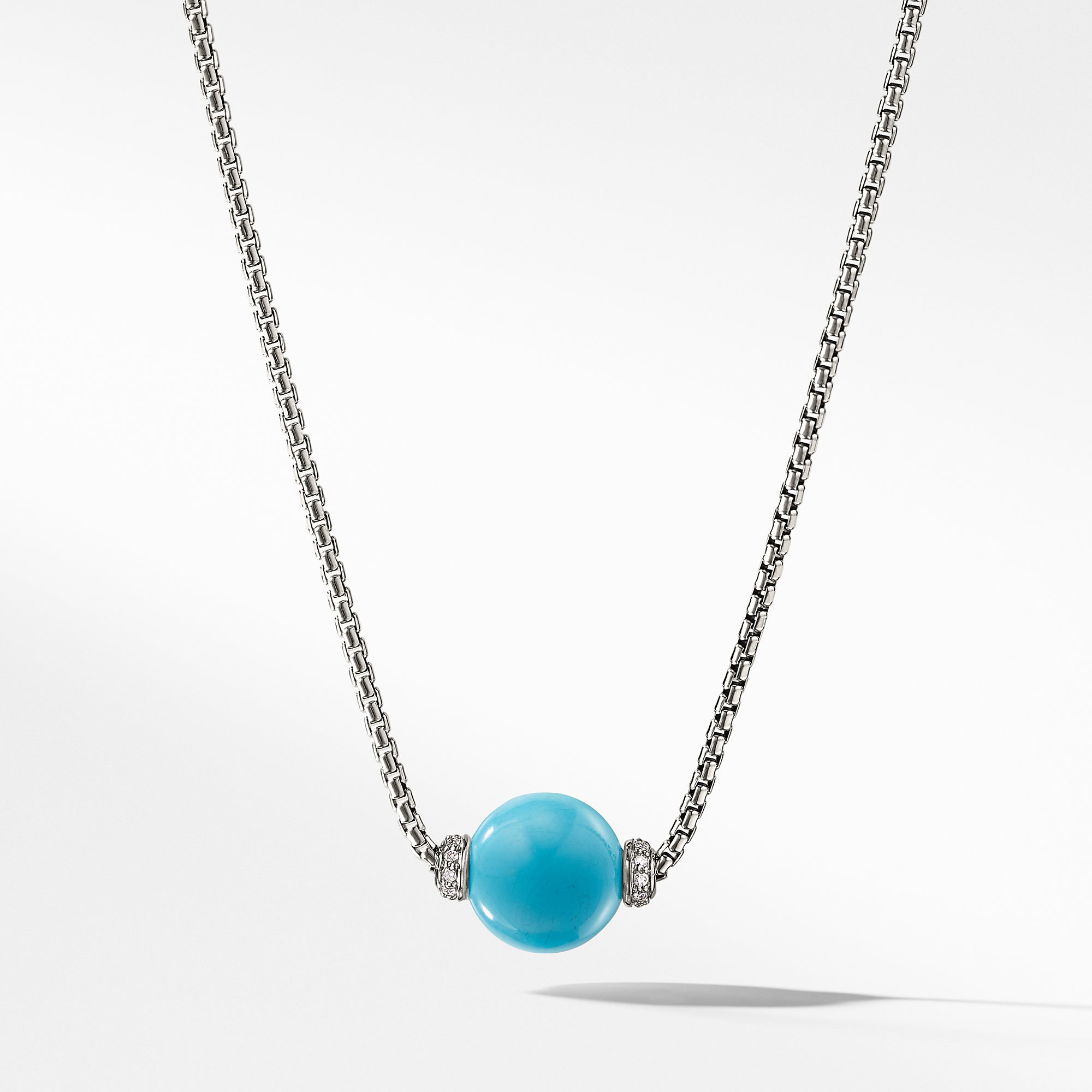 Solari Pendant Necklace with Diamonds