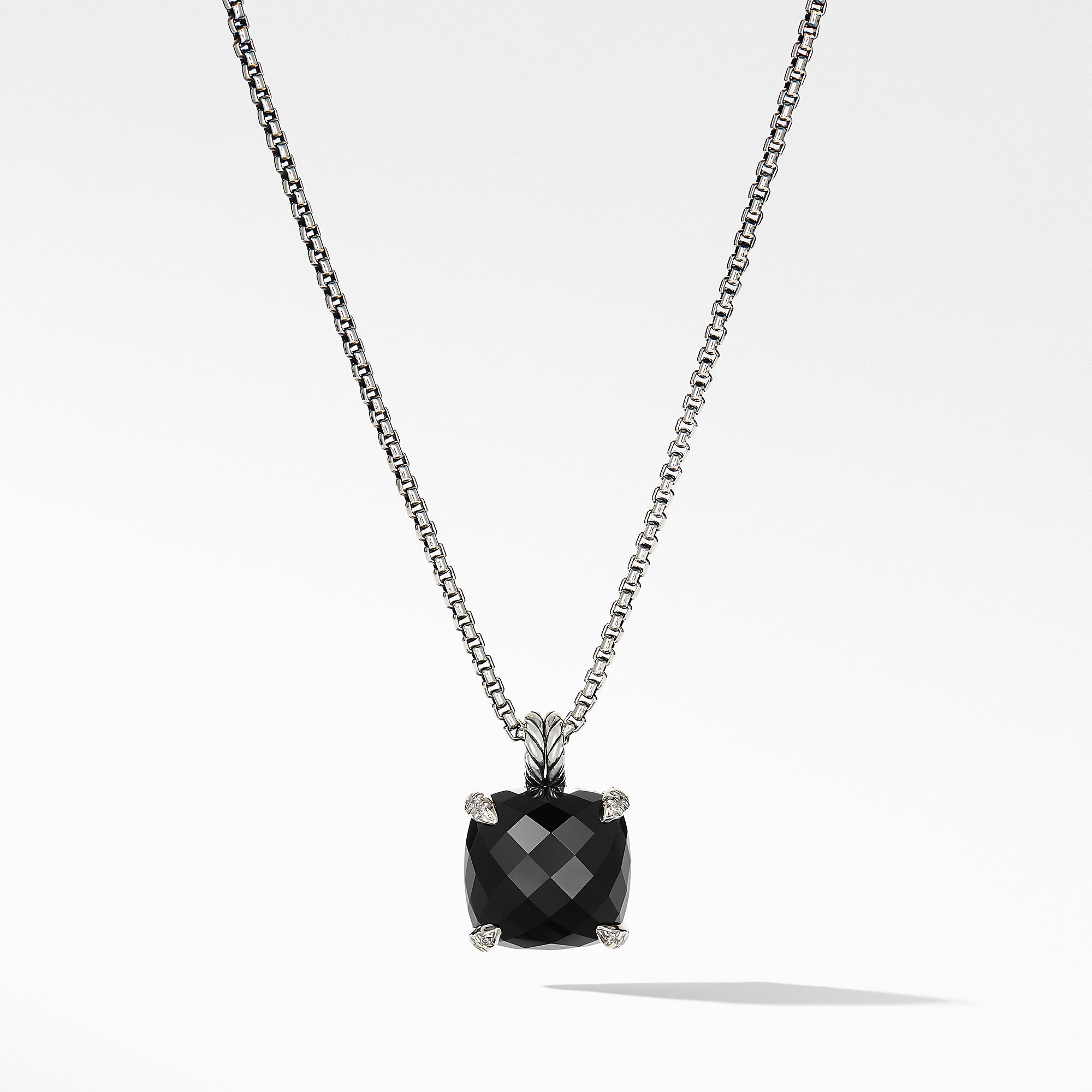 Chatelaine® Pendant Necklace with Black Onyx and Diamonds