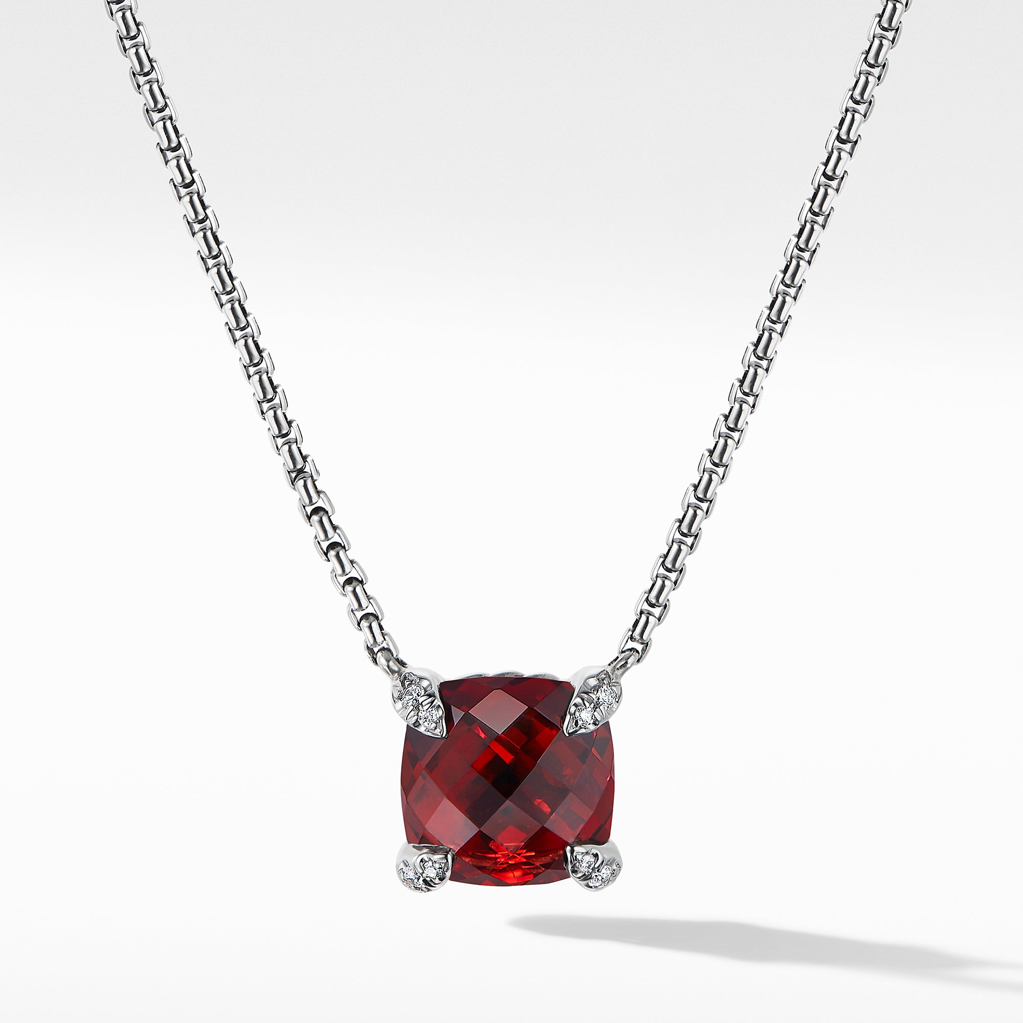 Chatelaine® Pendant Necklace with Rhodalite Garnet and Diamonds