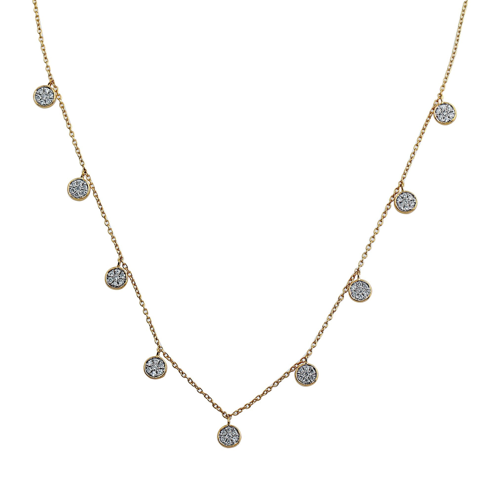 Blaze Lab-Grown Diamond Dangle Necklace - 14k Gold Over Sterling Silver (.46 ct. tw.)