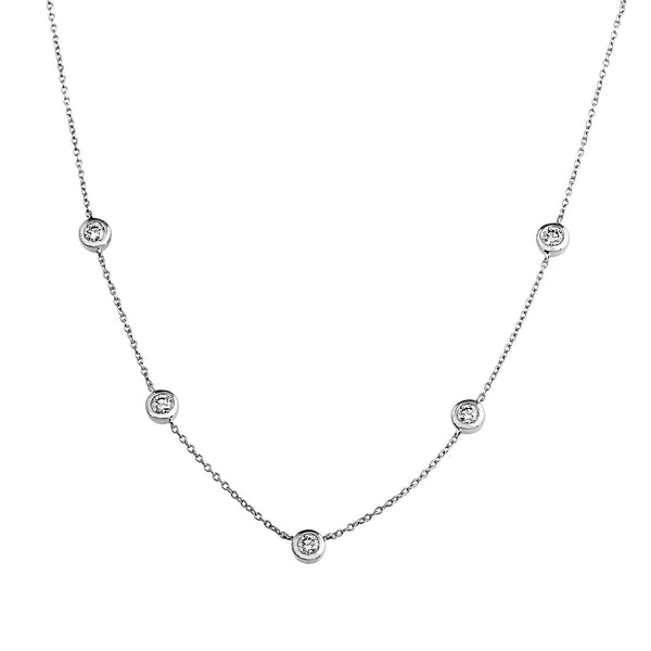 Phoenix Lab-Grown Diamond Station Necklace - Sterling Silver (.77 ct. tw.)