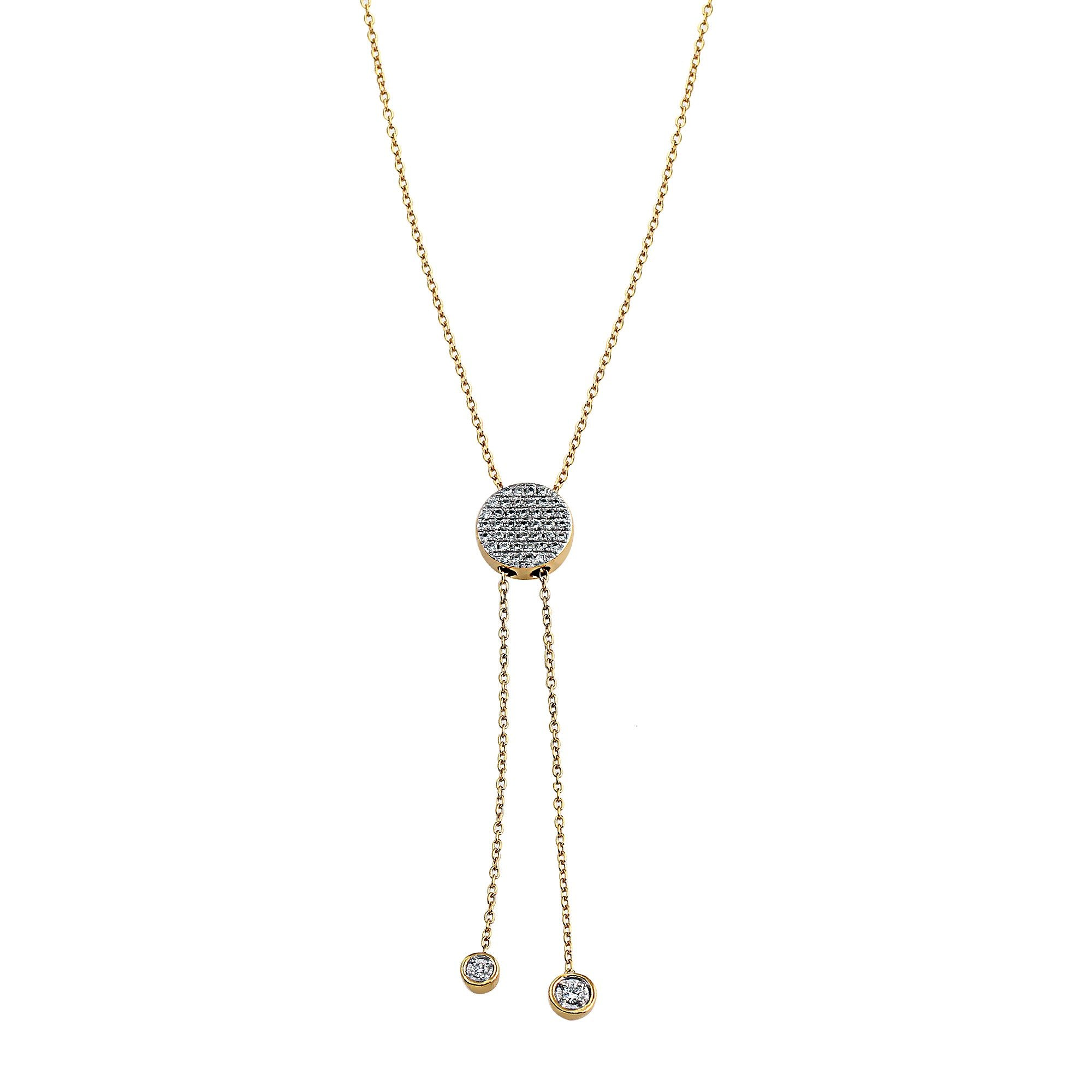 Blaze Lariat Lab-Grown Diamond Necklace - 14k Gold Over Sterling Silver (.33 ct. tw.)