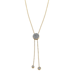 Blaze Lariat Lab-Grown Diamond Necklace - 14k Gold Over Sterling (.33 ct. tw.)