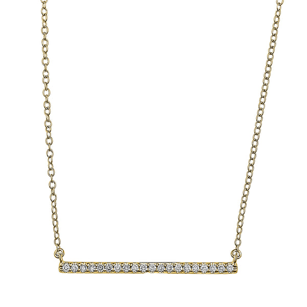 Flash Long Bar Lab-Grown Diamond Pendant - 14k Gold Over Sterling Silver (.20 ct. tw.)