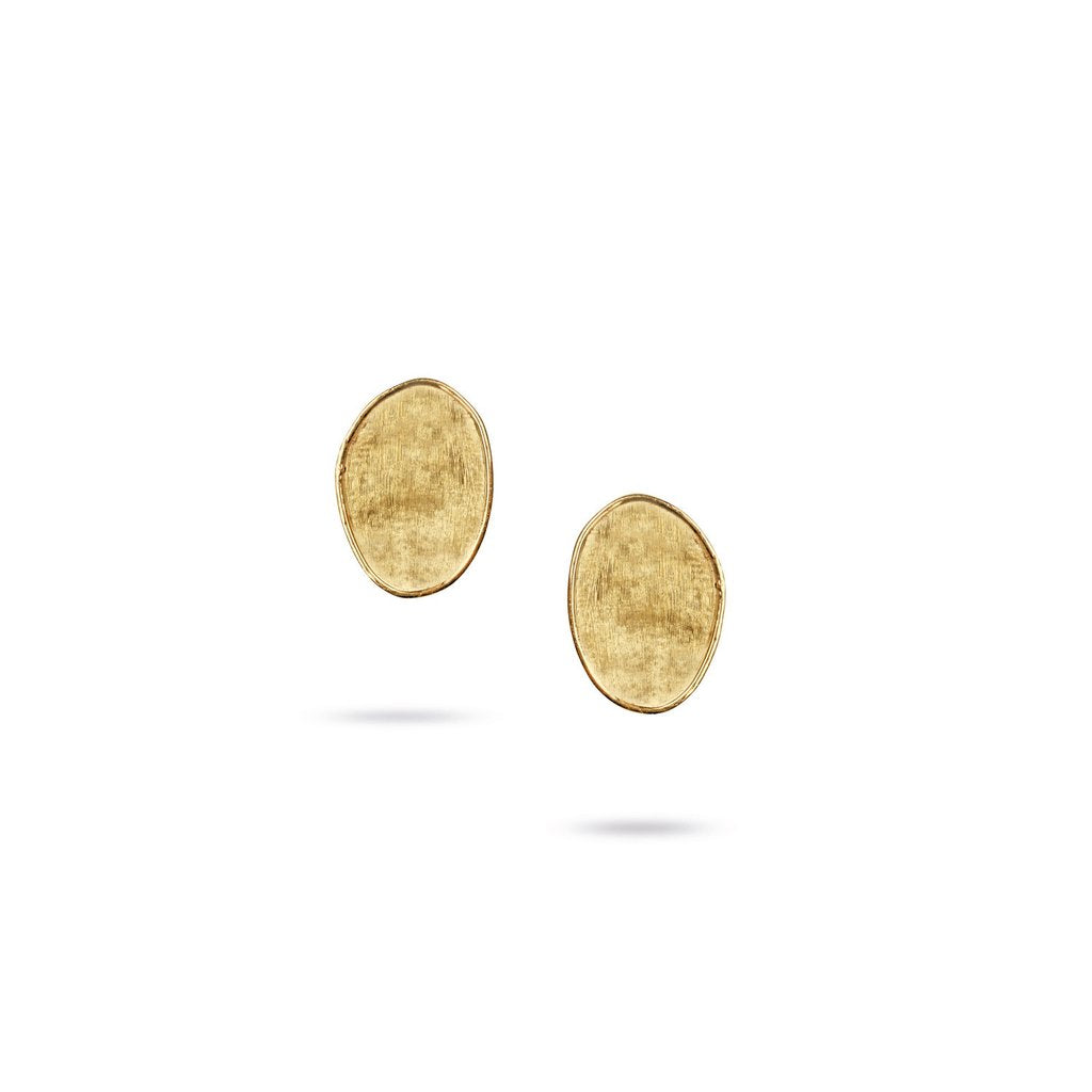 18K Yellow Gold  Small Petal Stud Earrings