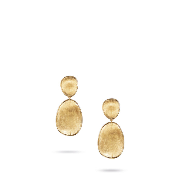 18K Yellow Gold Small Double Drop Earrings