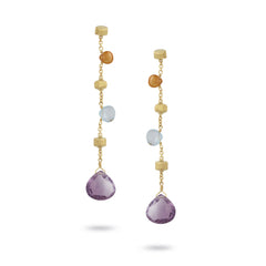 "18K Yellow Gold & Mixed Stone 2.25"" Drop Earrings"
