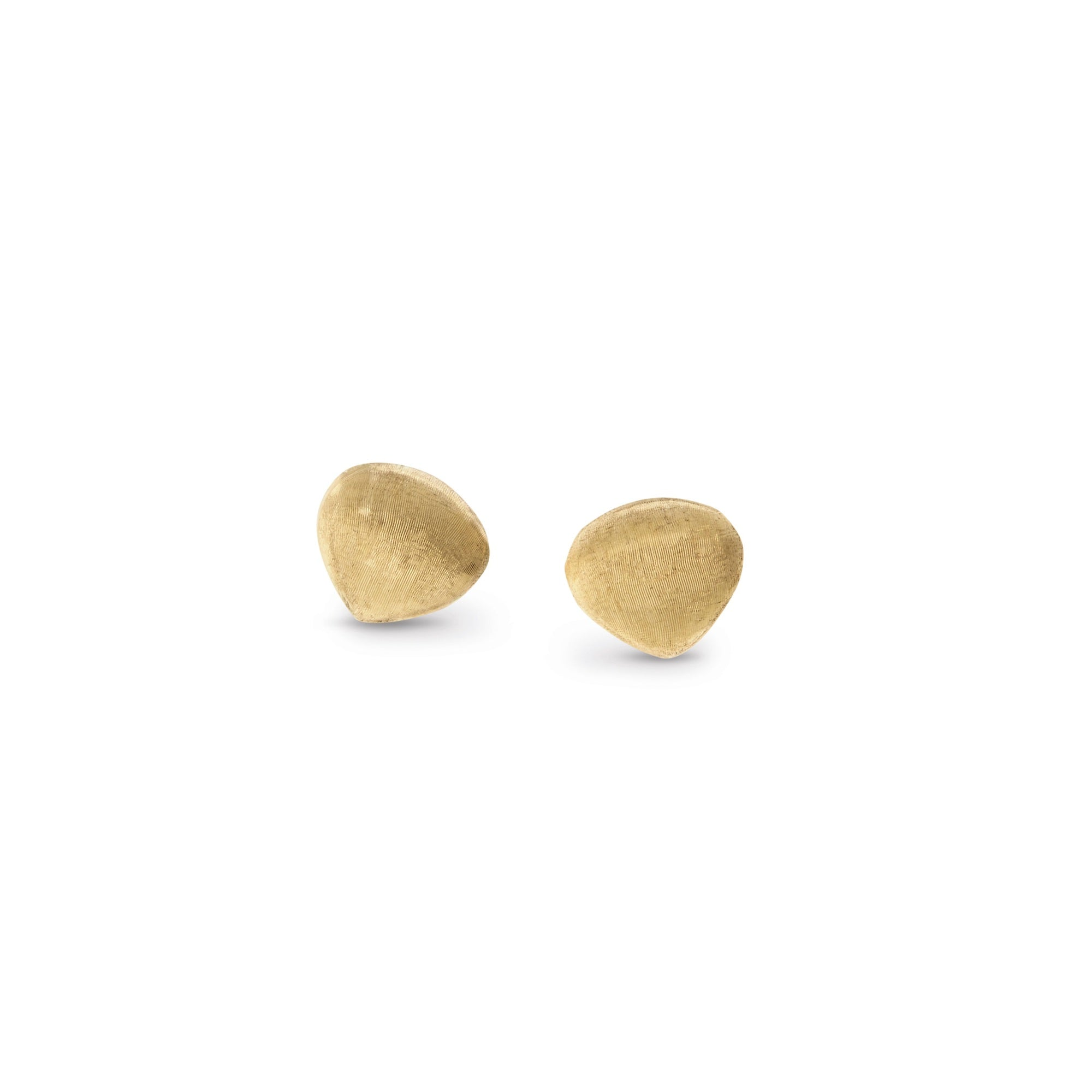 18K Yellow Gold Teardrop Stud Earrings