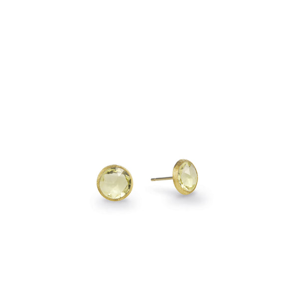 18K Yellow Gold & Lemon Citrine Petite Stud Earrings