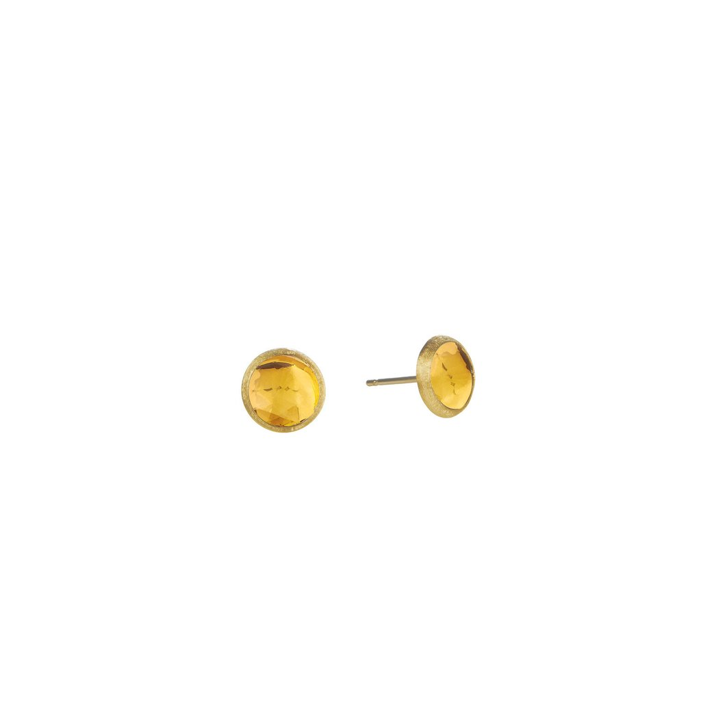 18K Yellow Gold  & Citrine Petite Stud Earrings