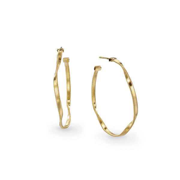 18K Yellow Gold Medium Hoop Earrings