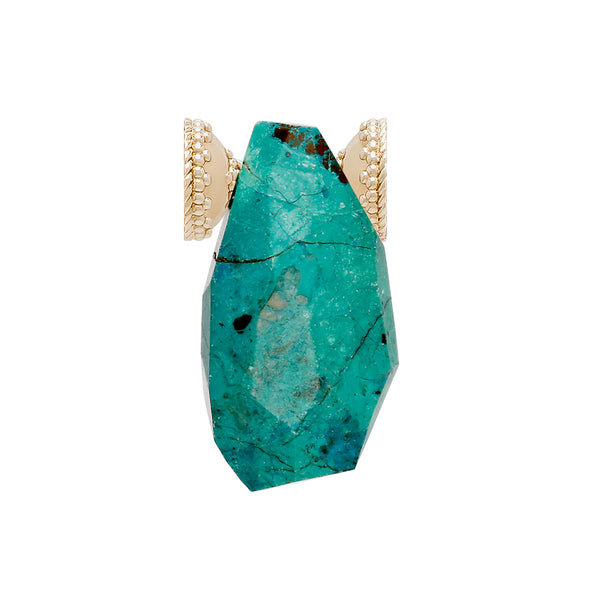 The Faceted Chrysocolla Centerpiece