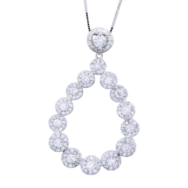 1.35 CTW Diamond Teardrop Pendant