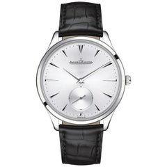 Master Ultra Thin Silver Dial Black Leather Men's Watch