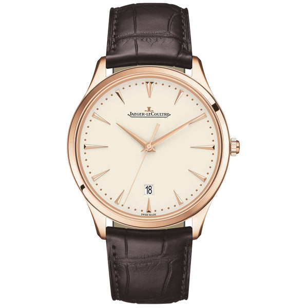 Master Ultra Thin Beige Dial Pink Gold Men's Watch