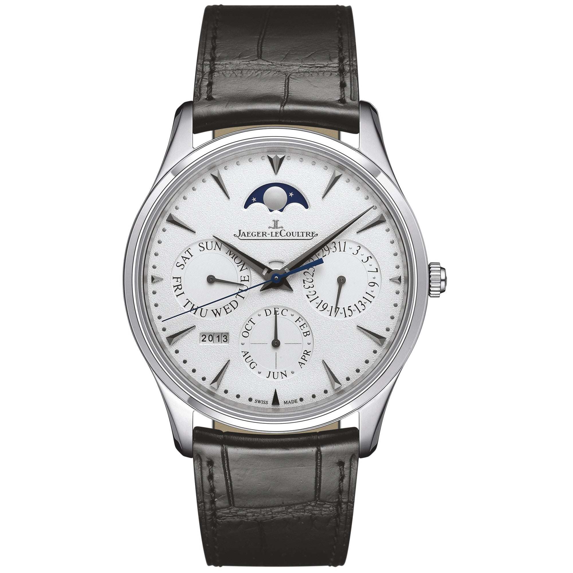 Master Ultra Thin Perpetual Calendar White Gold Men's Watch