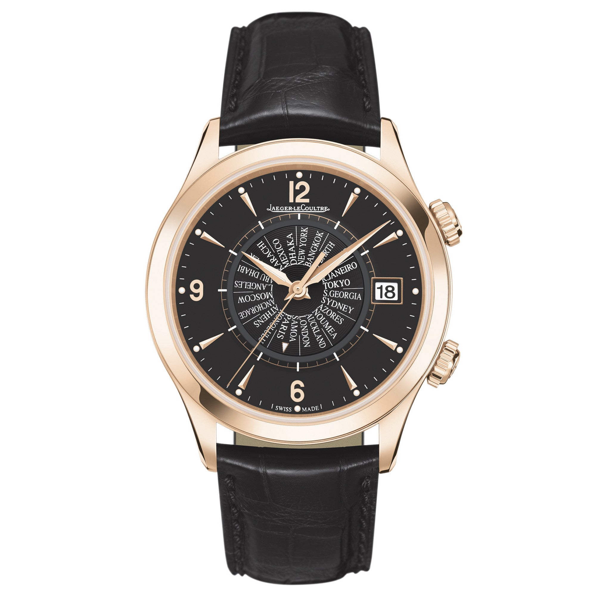 Master Memovax World Time Rose Gold Men
