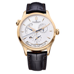 Master Control Geographic Silver Dial 18K Pink Gold Automatic Men's Watch