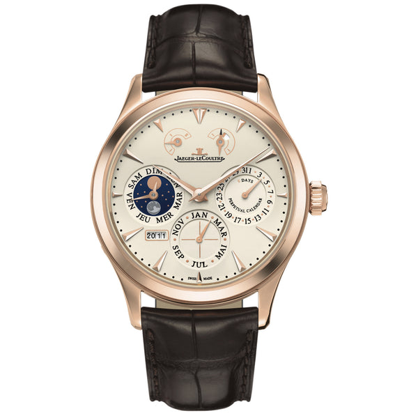 Master Eight Days Beige Dial Perpetual Calendar Men's Watch