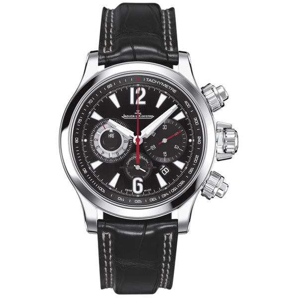 Master Compressor Chronograph Black Galvanic Dial Leather Men's Watch