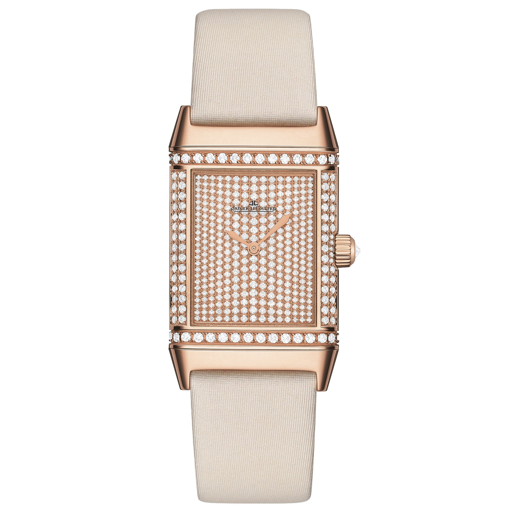 Reverso Duetto Classique Diamond Pave Dial Ladies Watch