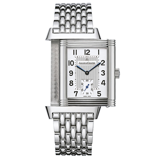 Reverso Grande Taille Silver Dial Stainless Steel Men's Watch