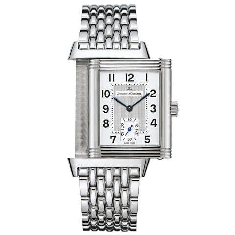 Reverso Grande Taille Silver Dial Stainless Steel Men
