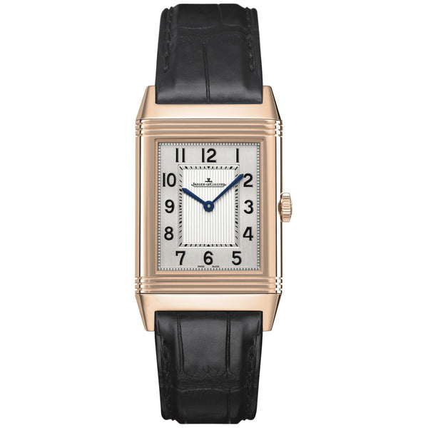 Grande Reverso Ultra Thin Silver Dial Leather Watch