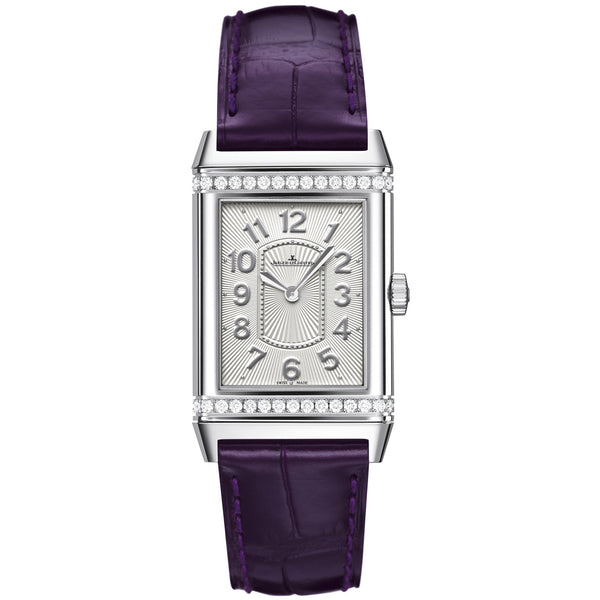 Grande Reverso Lady Ultra Thin Diamond Stainless Steel Ladies Watch