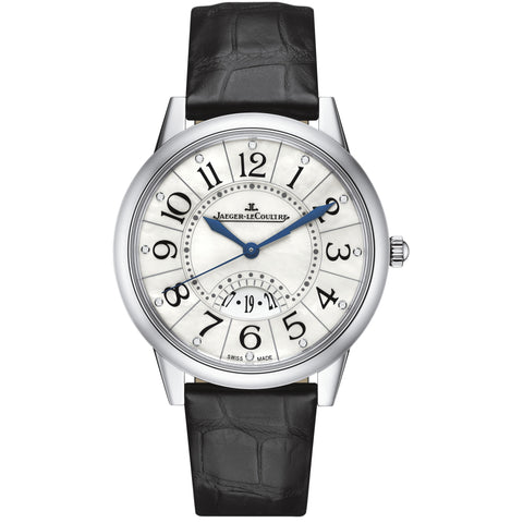Rendez-Vous Date Mother of Pearl Dial Black Leather Men