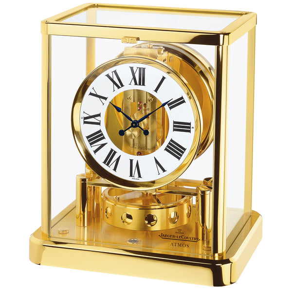 Atmos Classique White Dial Yellow Gold Coated Gilt Brass Desk Clock