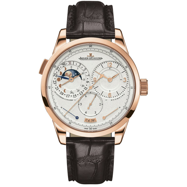 Duometre A Quantieme Lunaire Silver Dial Mechanical Men's Watch
