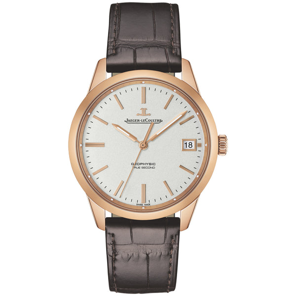 Geophysic Date Automatic Silver Dial Brown Leather Men's Watch