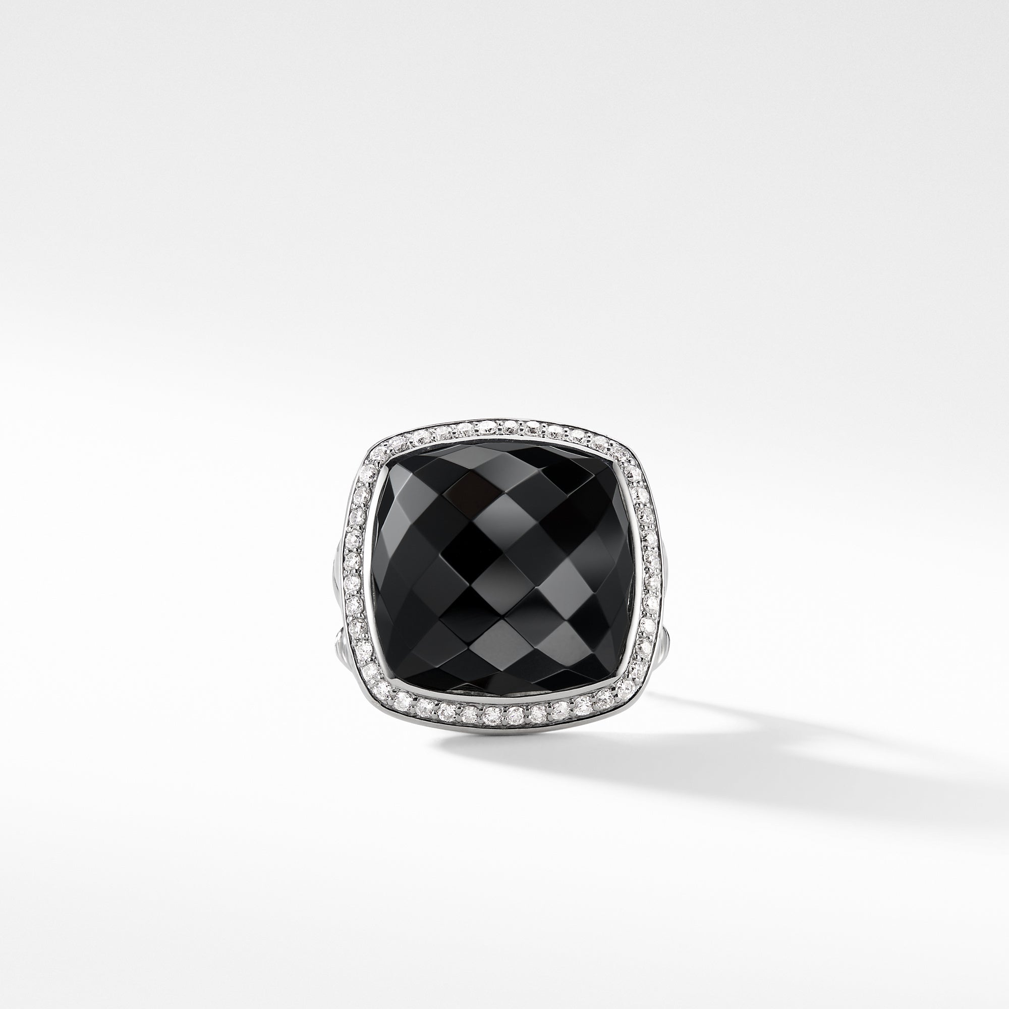 Albion Ring with Black Onyx and Diamonds