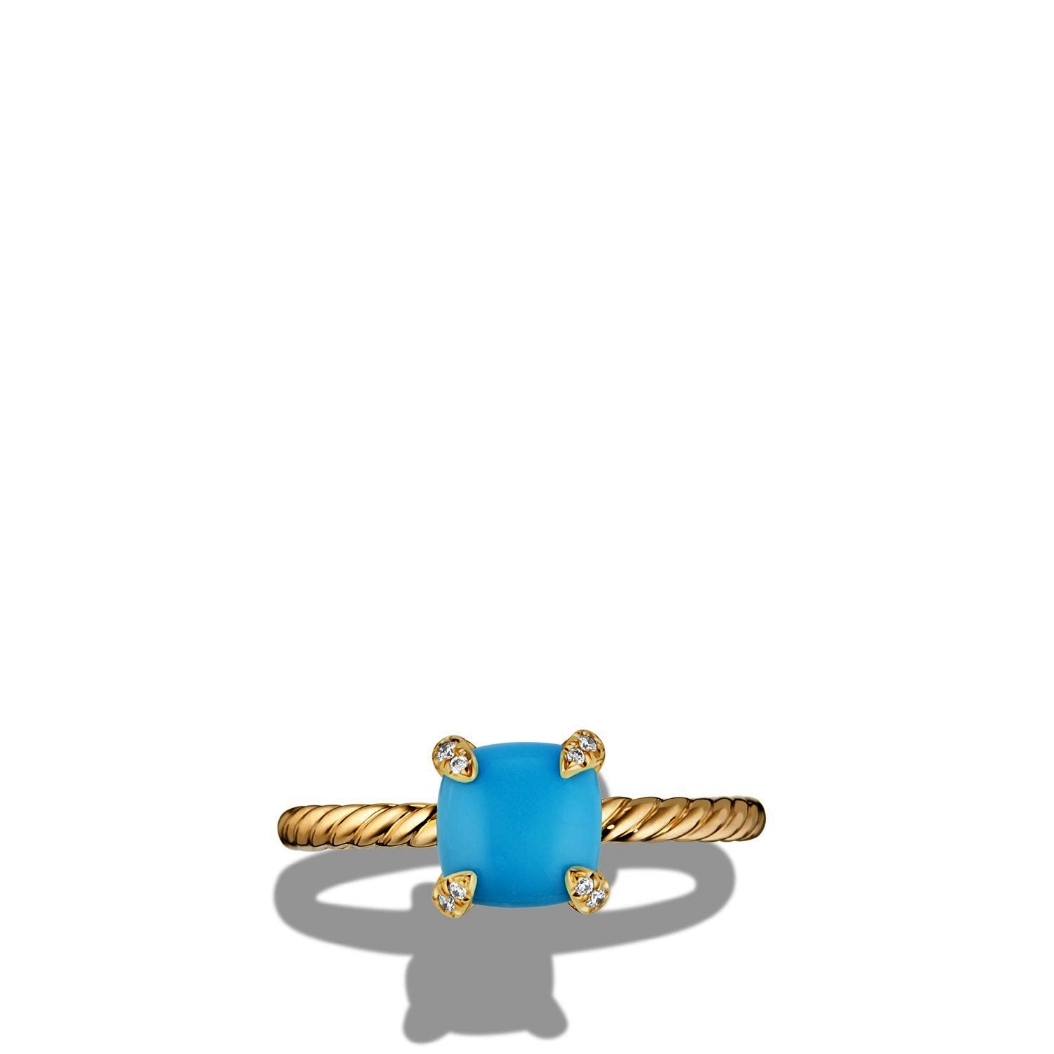 Chatelaine® Ring with Turquoise and Diamonds in 18K Gold