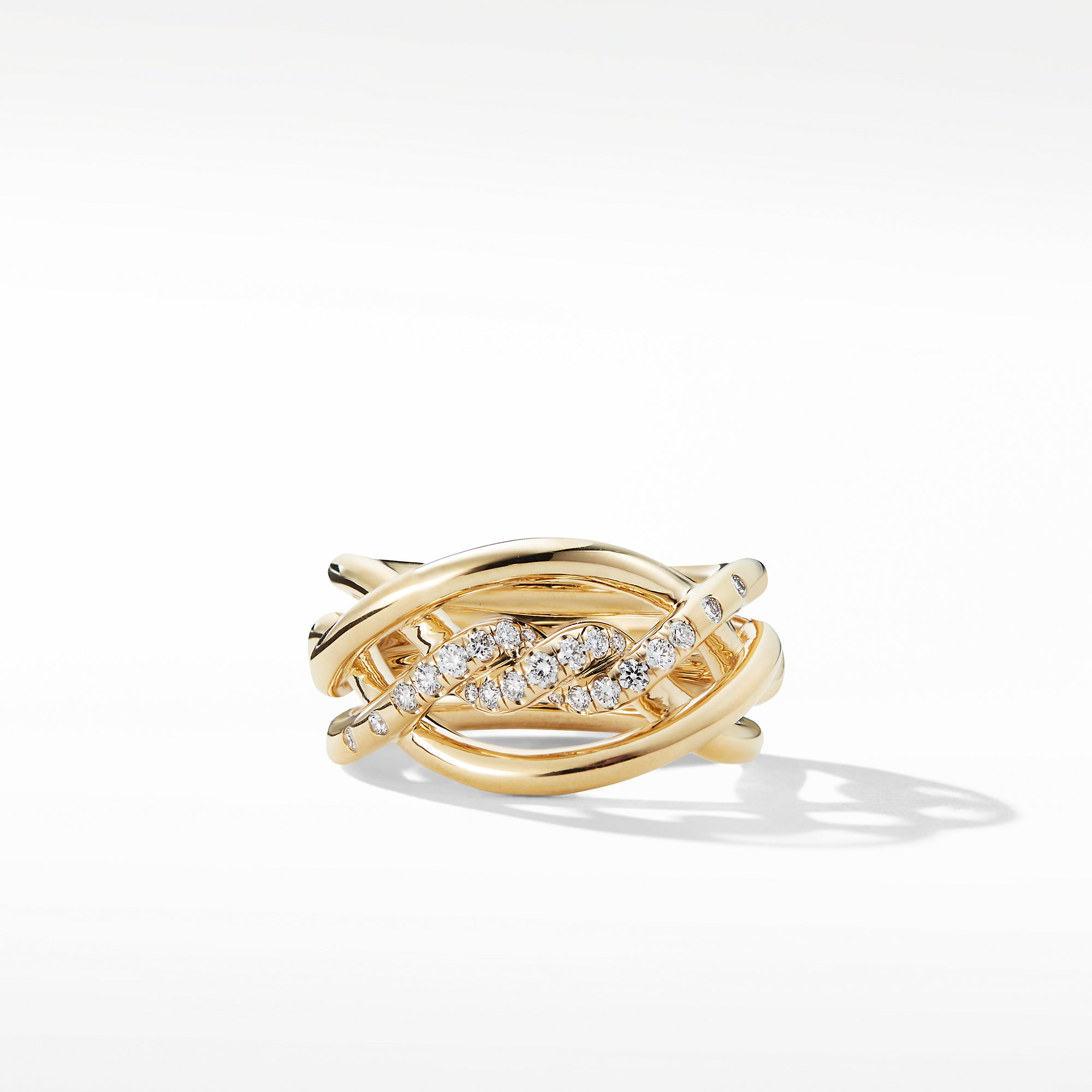 Continuance® Ring with Diamonds in 18K Gold