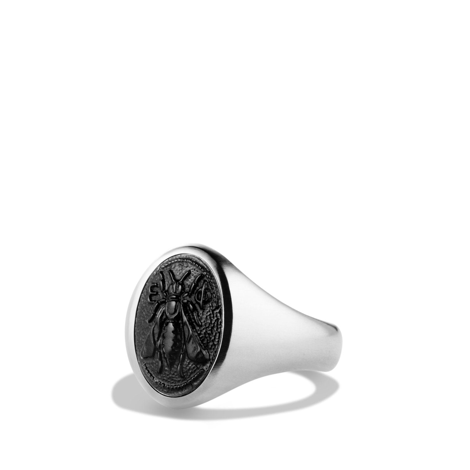 Bee Signet Ring with Black Onyx