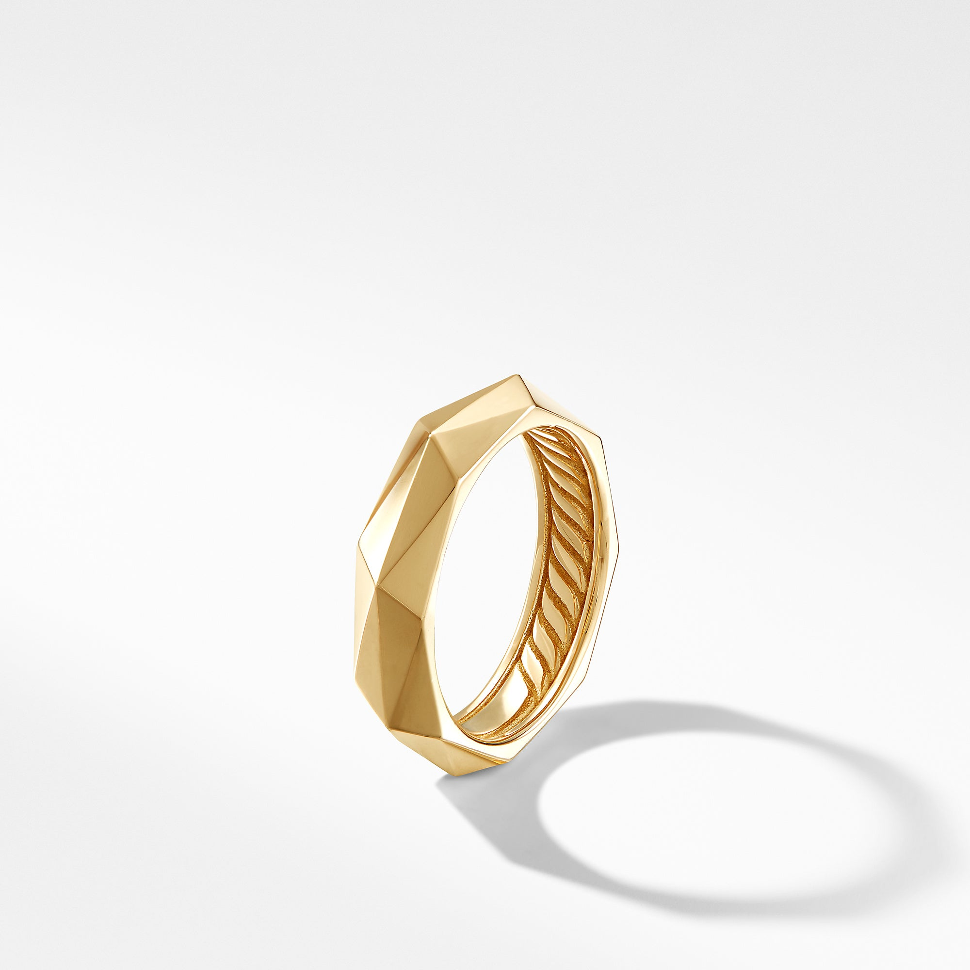 Faceted Band Ring in 18K Yellow Gold