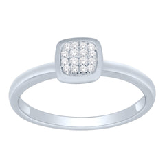 Diamond Stacking Square Cluster Ring (.08 ct tw.)