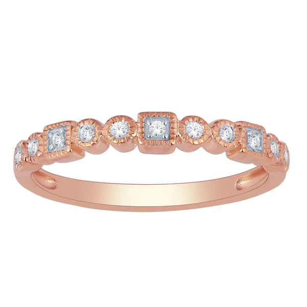Stacking Diamond Band Rings