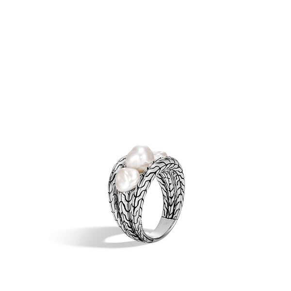 Classic Chain Ring with Fresh Water Pearl