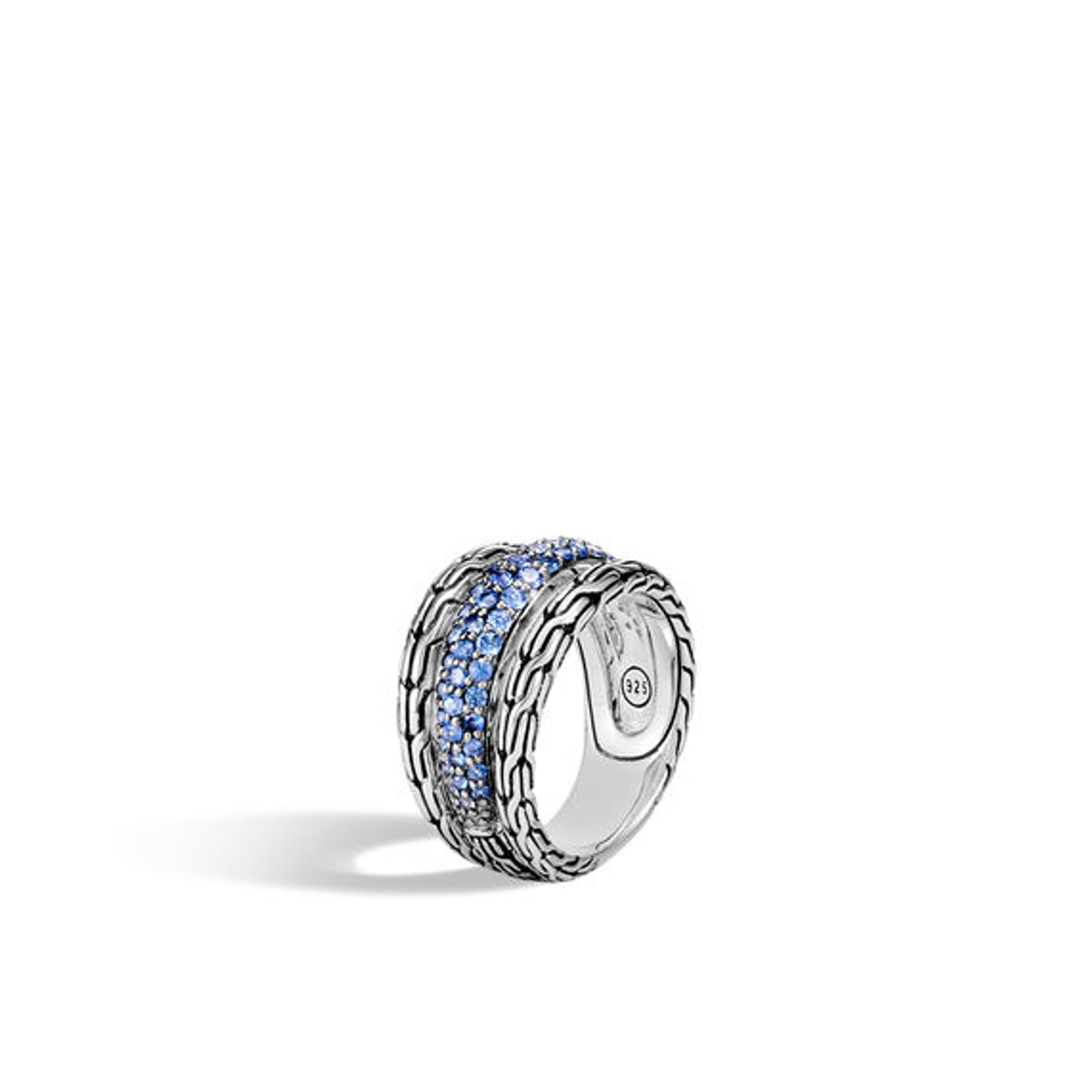Women's Classic Chain Ring with Blue Sapphire